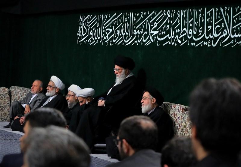 اقامه عزای حضرت فاطمه زهرا (س) در حضور رهبر معظم انقلاب