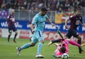 لالیگا| برتری بارسلونا مقابل ایبار در دیداری جنجالی