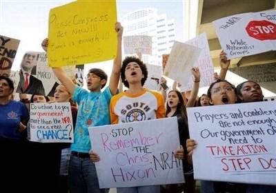 تظاهرات سراسری بازماندگان تیراندازی فلوریدا در واشنگتن