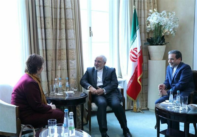 ظریف یلتقی أشتون على هامش مؤتمر میونخ للامن