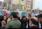 تهران  ورود پیکر مطهر 2 شهید گمنام دفاع مقدس به قرچک