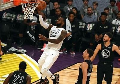 تیم لبران جیمز برنده جدال ستاره های NBA شد/ پادشاه باارزش ترین بازیکن لقب گرفت