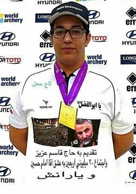 کماندار ایران طلای خود را تقدیم سردار سلیمانی و زائرین اربعین کرد