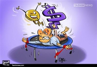 کاریکاتور/ بار روانیقیمت ارز بر دوشمردم!
