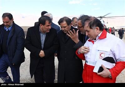 حضور عباس آخوندی وزیر راه در منطقه حادثه