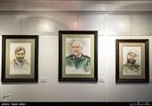 """100 پرتره از شهدا در نمایشگاه """"آئینههای بیزنگار"""" +تصاویر"""