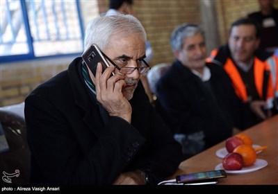 حضور محسن مهرعلیزاده استاندار اصفهان در منطقه حادثه