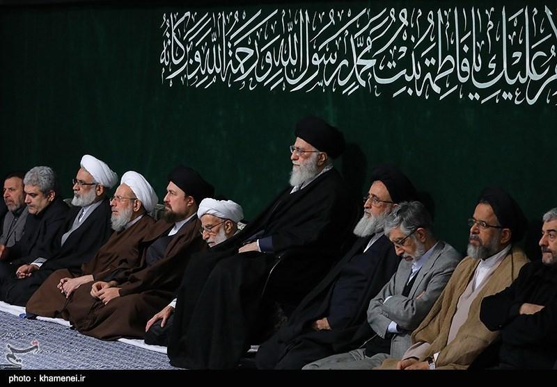 اقامة مجلس عزاء فی لیلة ذکرى استشهاد السیدة فاطمة الزهراء (س) بحضور قائد الثورة + صور