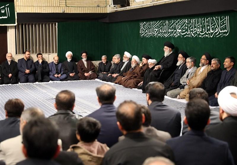 اقامه عزای شب شهادت حضرت زهرا(س) در حضور رهبر معظم انقلاب