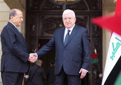 رایزنی روسای جمهور لبنان و عراق درباره روابط دوجانبه