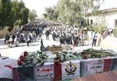 بوشهر  2 شهید گمنام در جزیره صنعتی صدرا تشییع و تدفین شدند