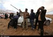 حضور مردم در حاشیه محل سقوط هواپیمای ATR