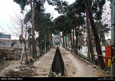 تخریب بخشی از گورستان امامزاده عبدالله شهرری