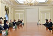 Azeri President Hails Growing Military Ties with Iran