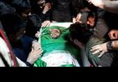 """آخرین وداع با پیکر شهید بسیجی آشوب خیابان پاسداران""""محمد حسین حدادیان""""+عکس و فیلم"""