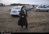 اصفهان| شب زمستانی امدادگران در دل کوه دنا