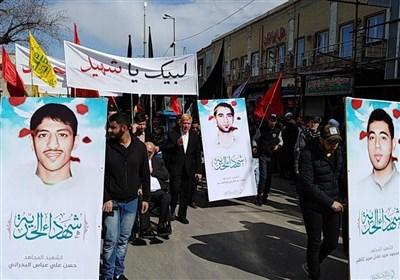 مراسم تشییع پیکر 3 شهید بحرینی در قم+عکس