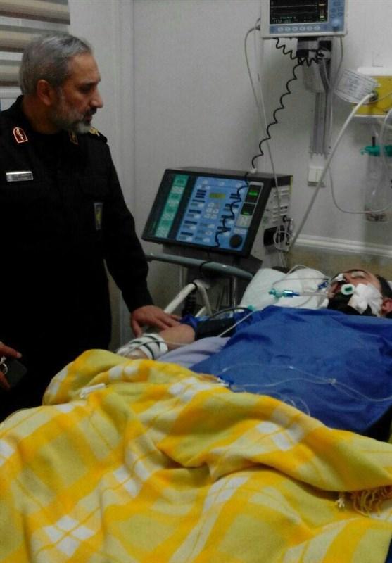 عیادت فرمانده سپاه تهران از مجروح حادثه تروریستی خیابان پاسداران + عکس