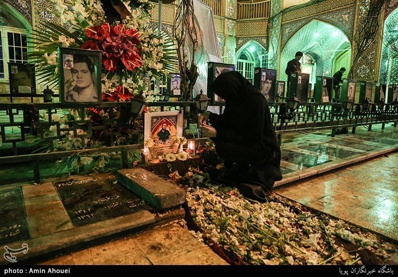 سنگ مزار شهید محمدحسین حدادیان نصب شد+عکس
