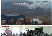 ایلام| کارخانه اسید ایوان مردم معترض را به بخشداری کشاند