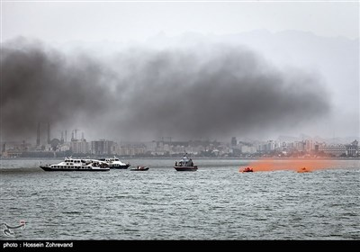 جزیرہ ہرمز میں ایرانی بحریہ کی تربیتی مشقیں