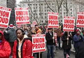 Union Workers Rally Ahead of Supreme Court Hearing on Organized Labor 'Agency Fees'