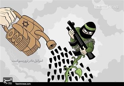 کاریکاتور/ اسرائیل مادر تروریسم