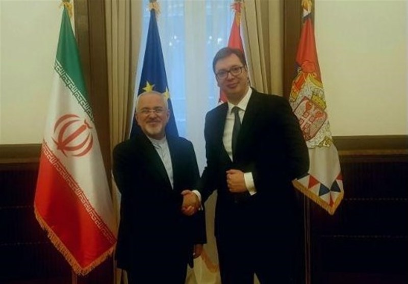 Iran's Zarif Meets Serbian President, Counterpart in Belgrade