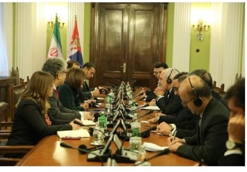 Iranian Top Diplomat, Serbian Speaker Meet in Belgrade