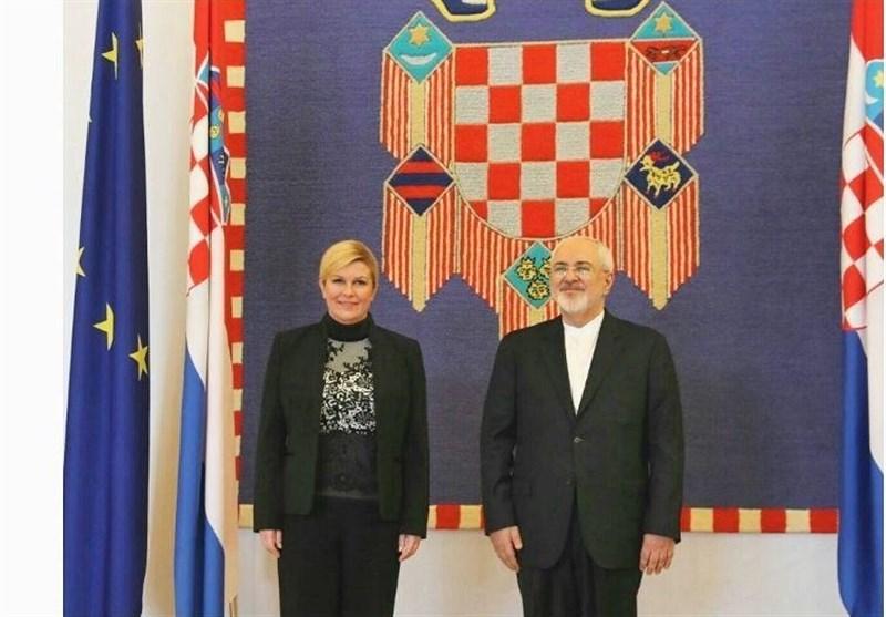Iran's Zarif Meets Croatian President, Labor Minister