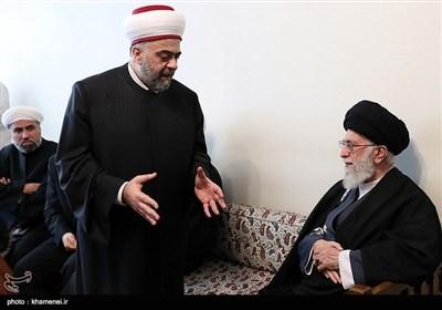 دیدار وزیر اوقاف سوریه و هیأت همراه با رهبر معظم انقلاب