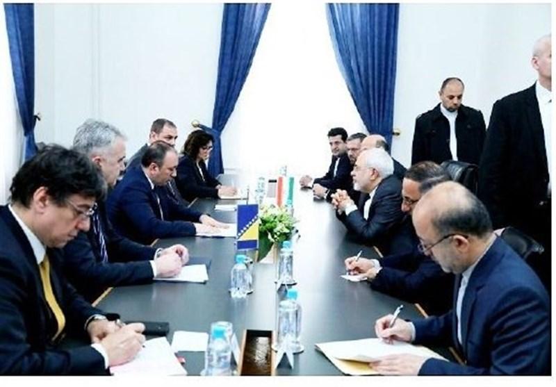 گفتوگوی ظریف با همتای بوسنایی درباره لزوم همکاری در سازمانهای بینالمللی