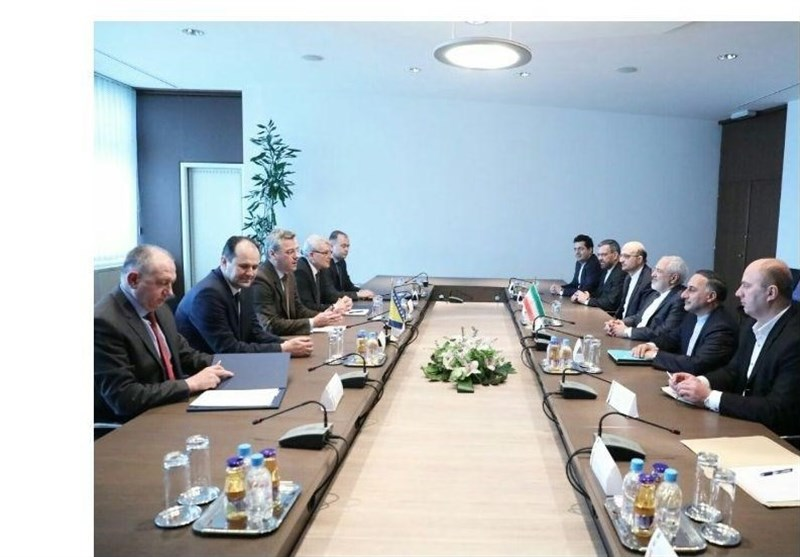 دیدار ظریف با رئیس و اعضای مجمع پارلمانی بوسنی و هرزگوین
