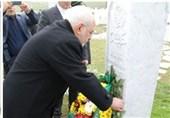 ادای احترام ظریف به یادمان شهدای بوسنی و علی عزت بگوویچ