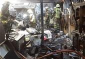 شعلههای سرکش آتش در انبار لوازم خانگی سهراه امینحضور + تصاویر