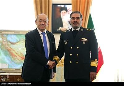 دیدار وزیر امور خارجه فرانسه با دبیرشورای عالی امنیت ملی