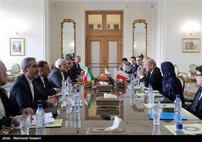 دیدار محمدجواد ظریف و ژان ایو لودریان وزرای امور خارجه ایران و فرانسه