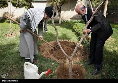 ہفتہ شجرکاری کے موقع پر امام خامنہ ای نے پودے لگائے