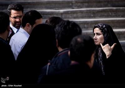 لعیا جنیدی معاون حقوقی رئیس جمهور در حاشیه جلسه هیئت دولت