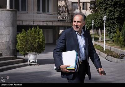 محمدعلی نجفی شهردار تهران در حاشیه جلسه هیئت دولت