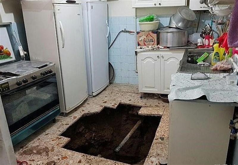 کف آشپزخانه زن میانسال را بلعید + تصاویر