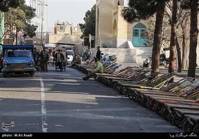 ایستگاه بارگیری گاری ها در محله شوش