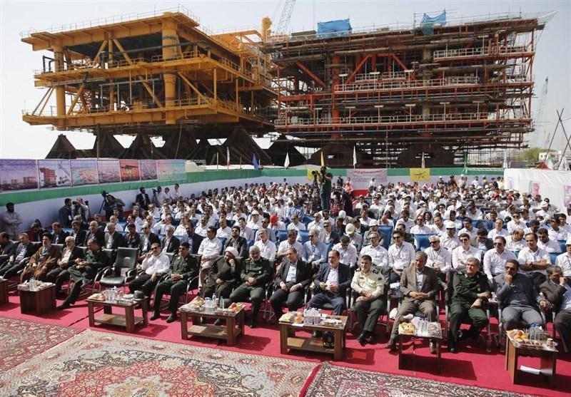 بوشهر|شرکت صدرا 10 سکوی گازی فازهای 13، 14 و 22 تا 23 پارس جنوبی را میسازد+فیلم