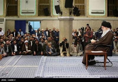 دیدار جمعی از مداحان و ذاکران اهل بیت(ع) با رهبر معظم انقلاب