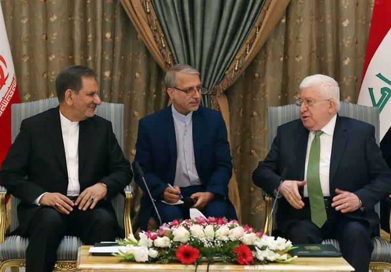 خلال اللقاء مع جهانغیری..معصوم یؤکد على مواصلة التّنسیق مع ایران فی مکافحة الإرهاب