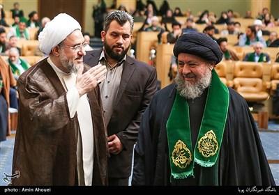 آیت الله محسن اراکی دبیرکل مجمع جهانی تقریب مذاهب اسلامی در اولین همایش بزرگ سادات