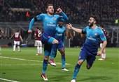 لیگ اروپا| آرسنال با برتری در سنسیرو به صعود نزدیک شد/ دورتموند در خانه شکست خورد