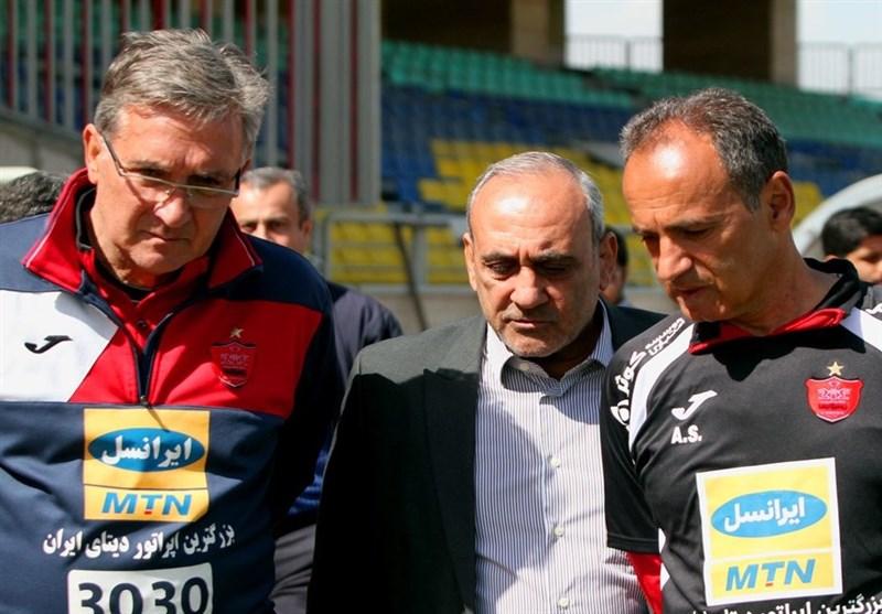 جلسه گرشاسبی با برانکو در ورزشگاه شهید کاظمی