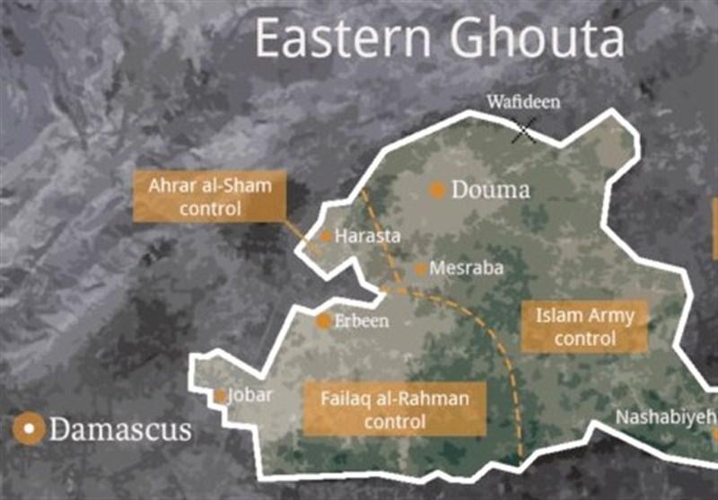 خروج غیرنظامیان از غوطهشرقی از طریق گذرگاههای امن ارتش سوریه