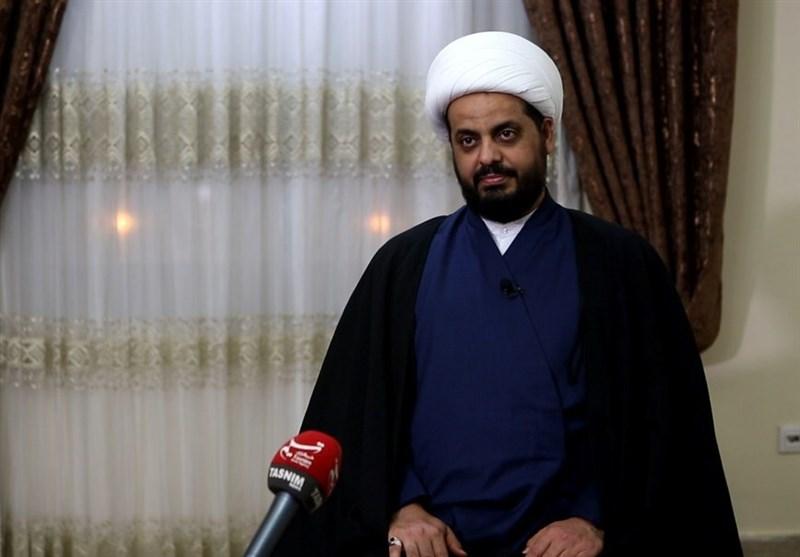 """الشیخ الخزعلی لـ """"تسنیم"""" (2) : الوجود الأمریکی فی عراق ما بعد داعش مرفوض شعبیاً"""